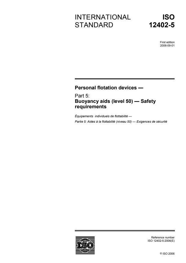 ISO 12402-5:2006 - Personal flotation devices