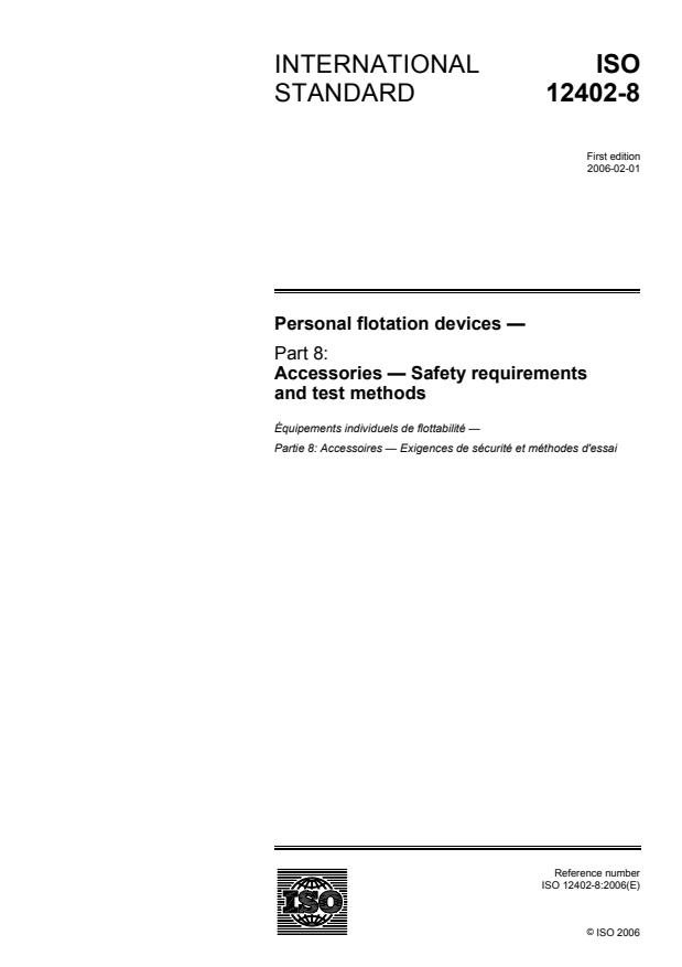 ISO 12402-8:2006 - Personal flotation devices