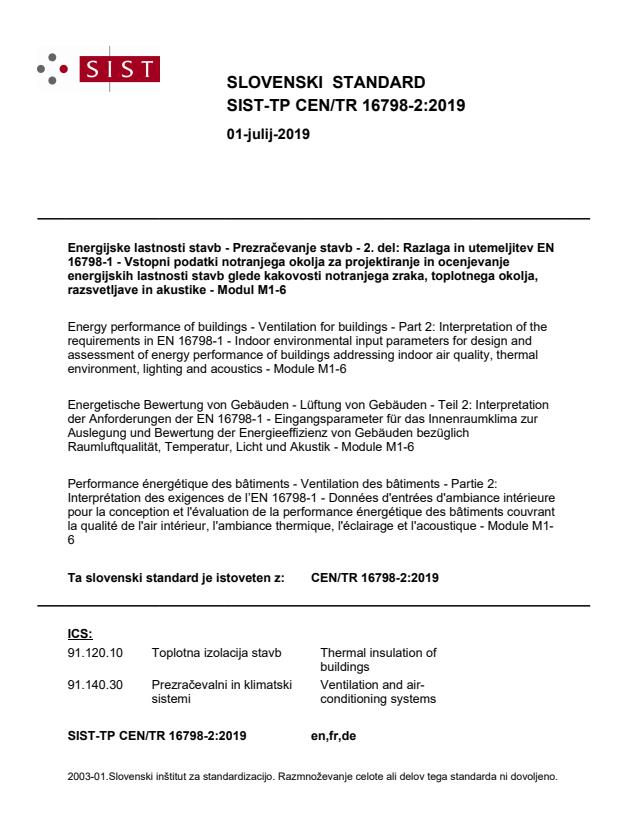 SIST-TP CEN/TR 16798-2:2019