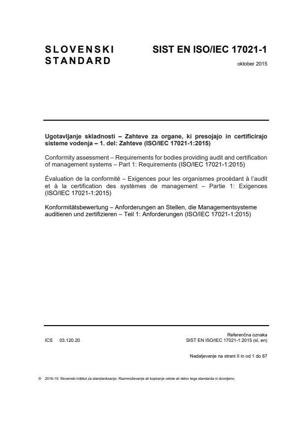 SIST EN ISO/IEC 17021-1:2015 - za tisk (oktober 2016)