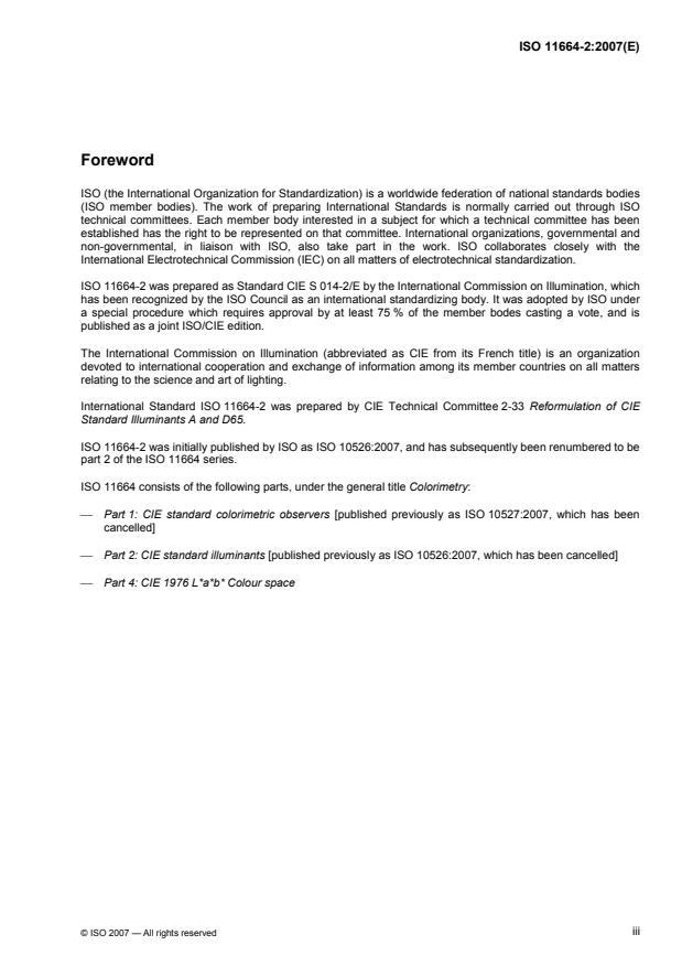 ISO 10526:2007 - CIE standard illuminants for colorimetry