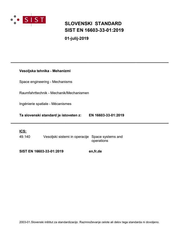 SIST EN 16603-33-01:2019