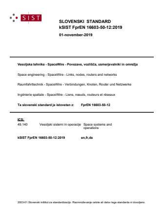FprEN 16603-50-12:2019 - BARVE
