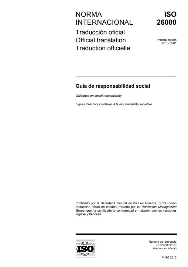 ISO 26000:2010 - Guidance on social responsibility