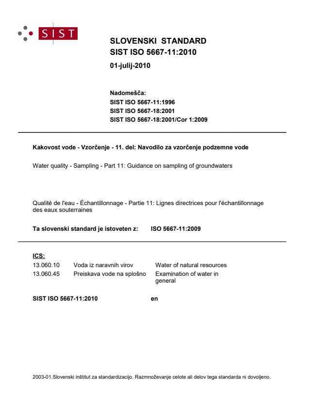 SIST ISO 5667-11:2010