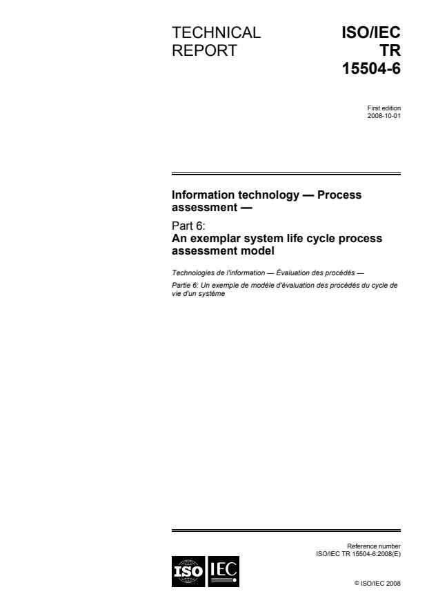 ISO/IEC TR 15504-6:2008 - Information technology -- Process assessment