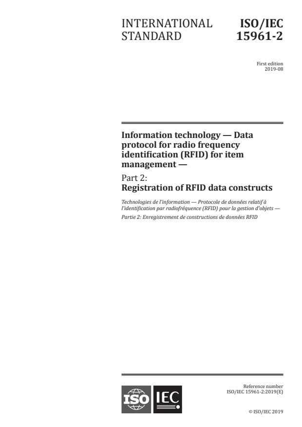 ISO/IEC 15961-2:2019