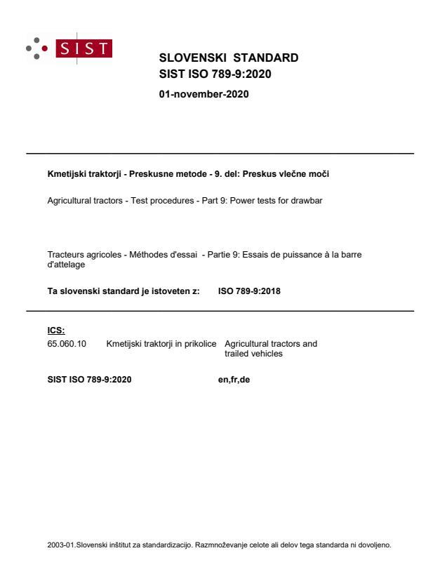 SIST ISO 789-9:2020