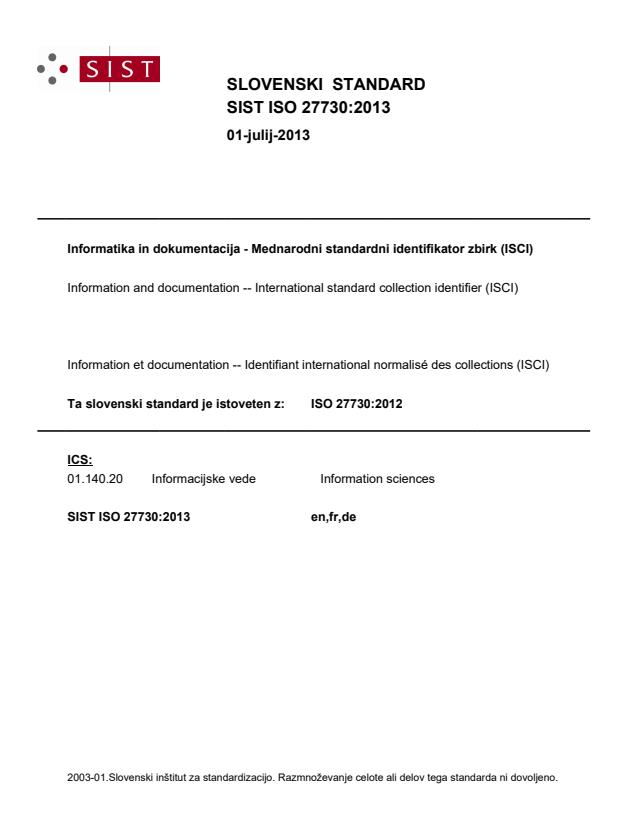 ISO 27730:2013