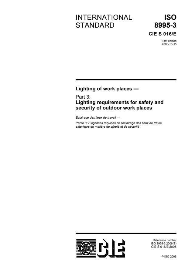 ISO 8995-3:2006 - Lighting of work places