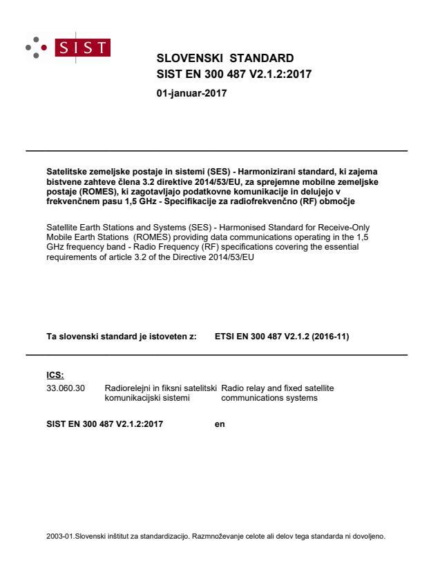 SIST EN 300 487 V2.1.2:2017