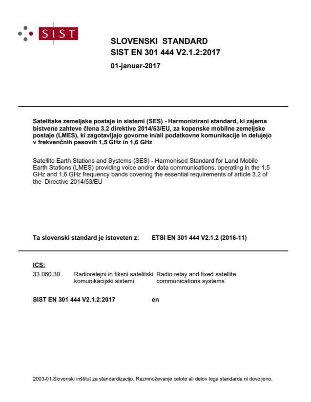 SIST EN 301 444 V2.1.2:2017