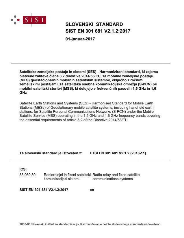 SIST EN 301 681 V2.1.2:2017