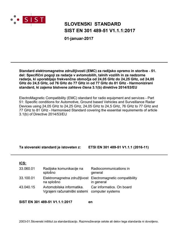 SIST EN 301 489-51 V1.1.1:2017