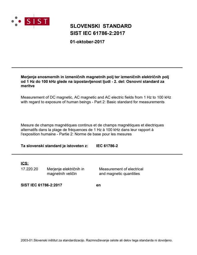 SIST IEC 61786-2:2017