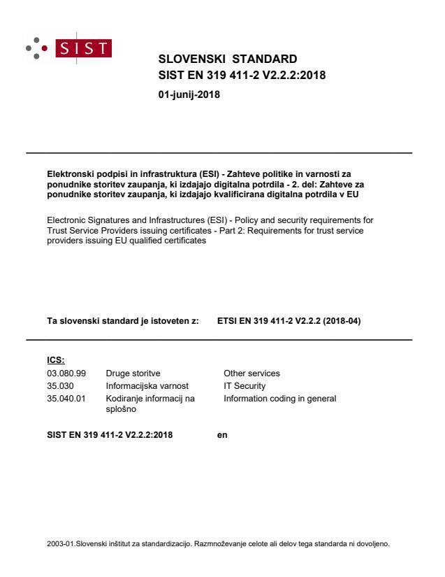 SIST EN 319 411-2 V2.2.2:2018