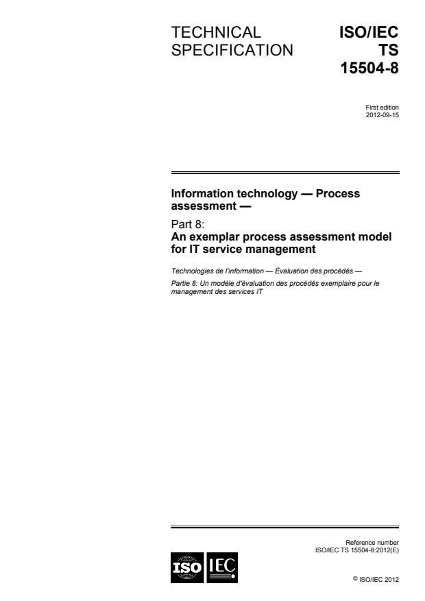 ISO/IEC TS 15504-8:2012 - Information technology -- Process assessment
