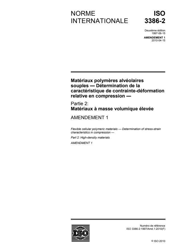 ISO 3386-2:1997/Amd 1:2010
