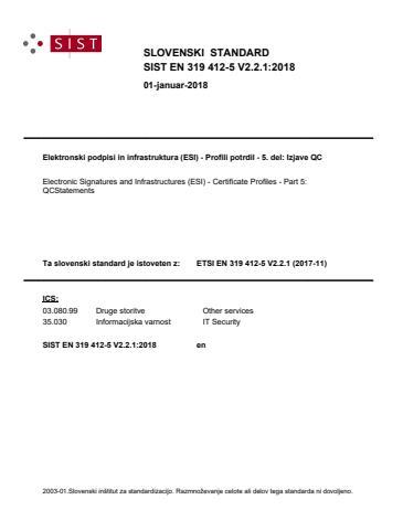 SIST EN 319 412-5 V2.2.1:2018