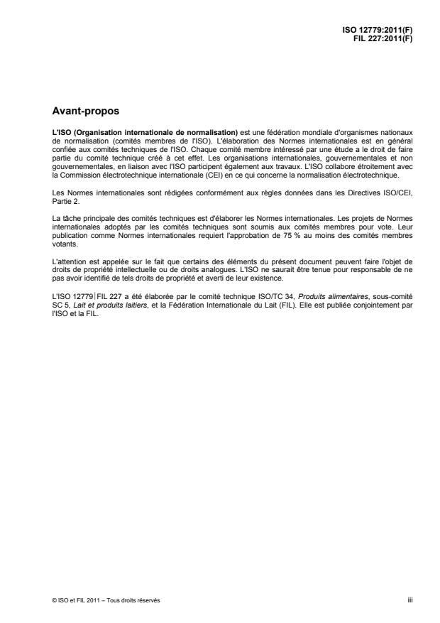 ISO 12779:2011 - Lactose -- Détermination de la teneur en eau -- Méthode de Karl Fischer