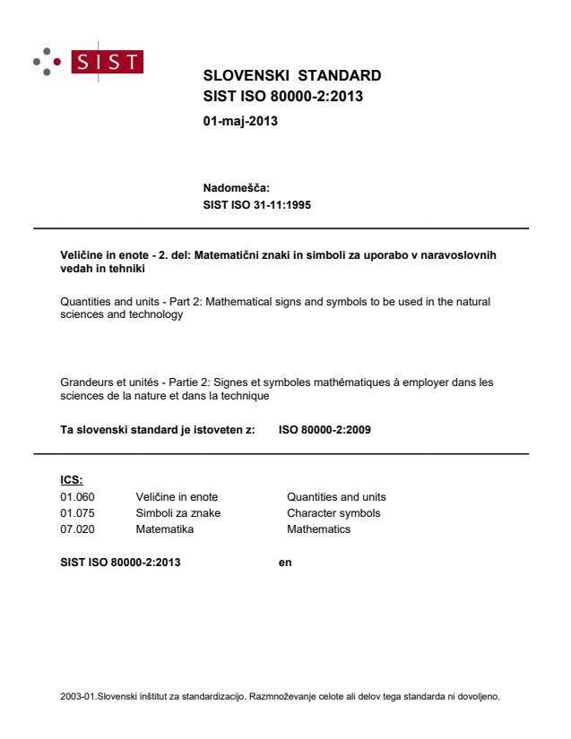 SIST ISO 80000-2:2013