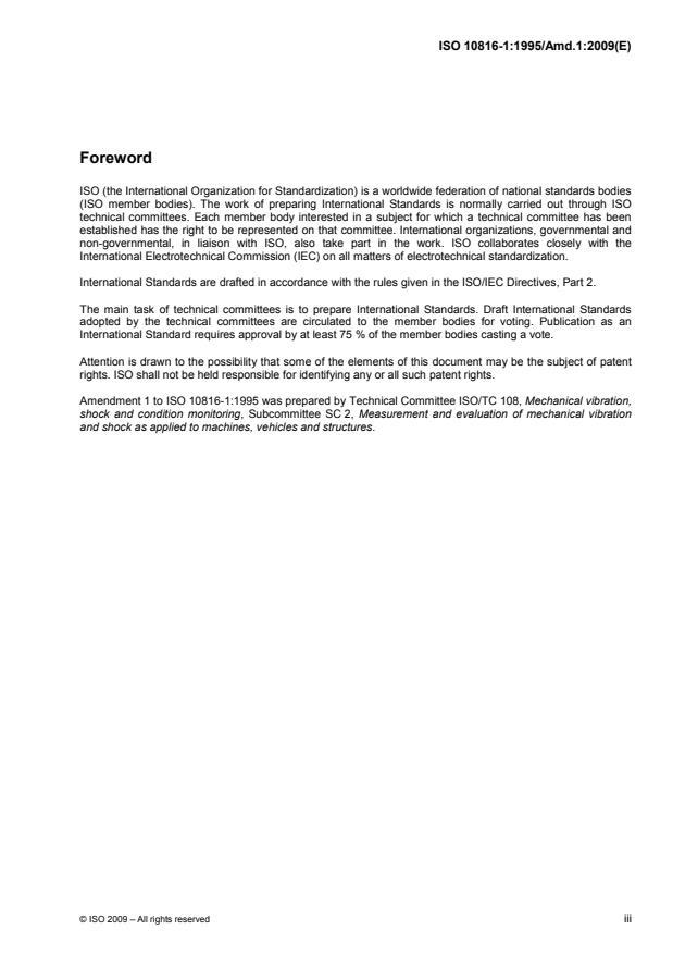 ISO 10816-1:1995/Amd 1:2009