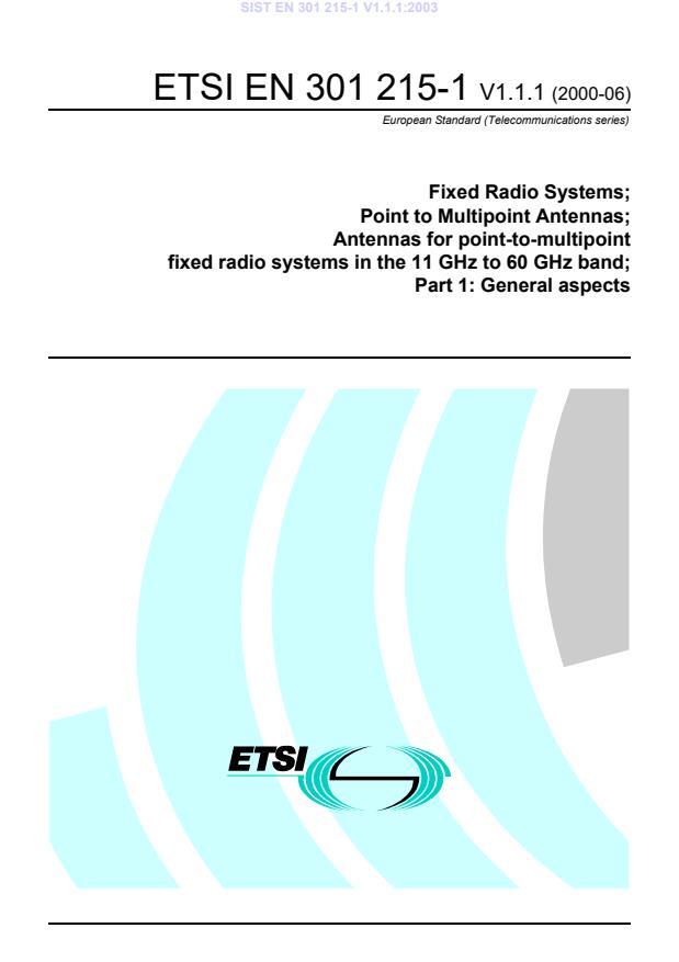 SIST EN 301 215-1 V1.1.1:2003
