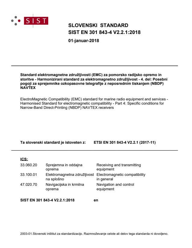 SIST EN 301 843-4 V2.2.1:2018