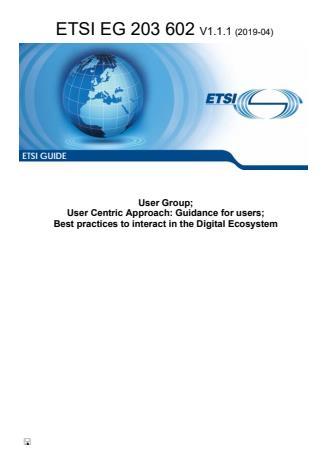 SIST-V ETSI/EG 203 602 V1.1.1:2019
