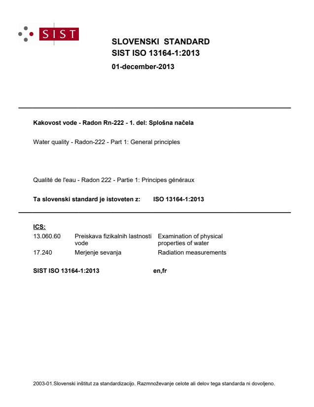 ISO 13164-1:2013