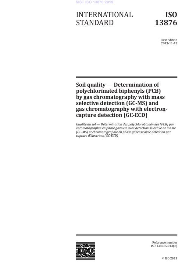 SIST ISO 13876:2019