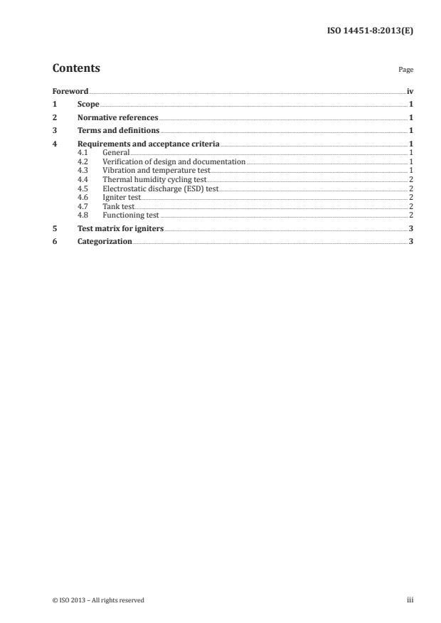 ISO 14451-8:2013 - Pyrotechnic articles -- Pyrotechnic articles for vehicles