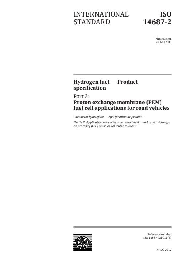 SIST ISO 14687-2:2021