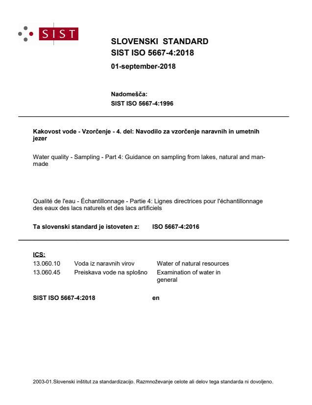 SIST ISO 5667-4:2018 - BARVE na PDF-str 22,23,26,27,28,29,30,31,32,33,34,35