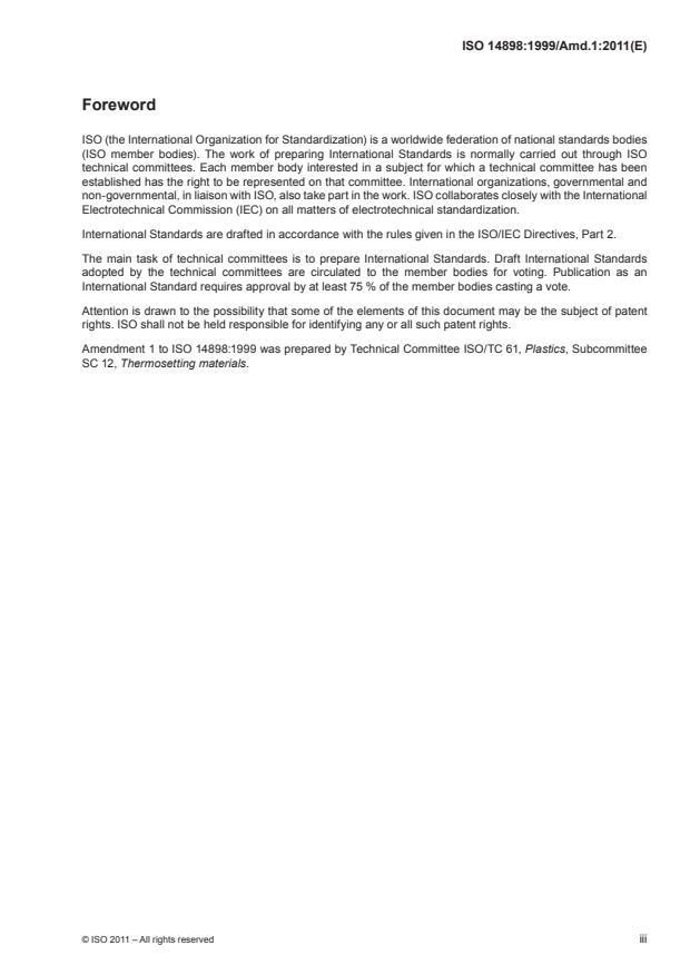 ISO 14898:1999/Amd 1:2011