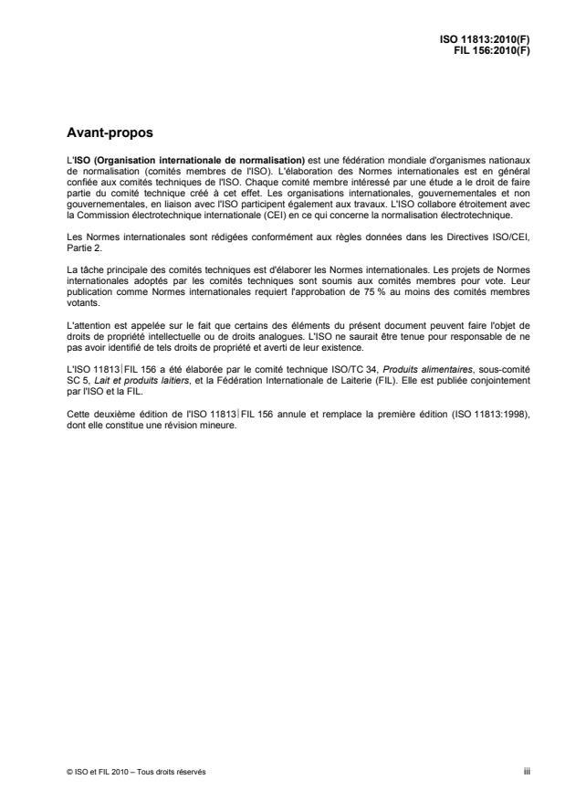 ISO 11813:2010 - Lait et produits laitiers -- Détermination de la teneur en zinc -- Méthode par spectrométrie d'absorption atomique avec flamme
