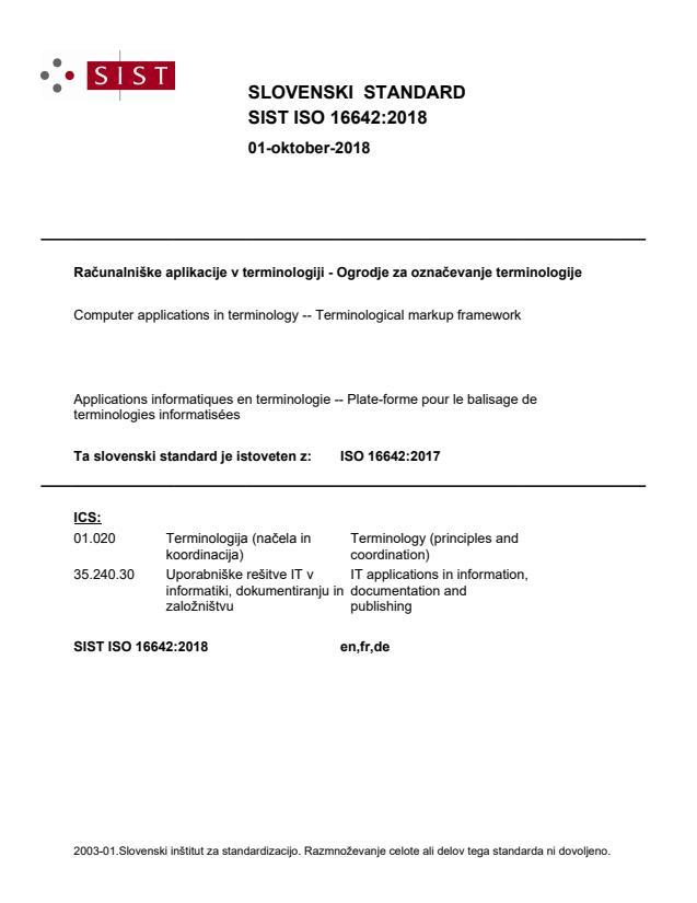 SIST ISO 16642:2018