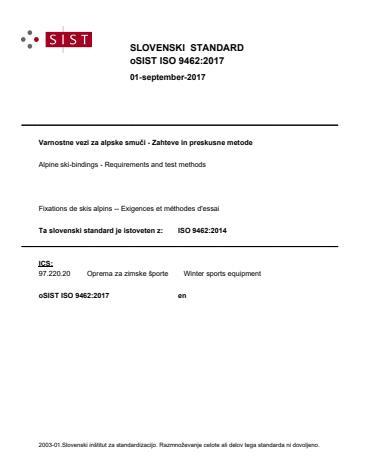 oSIST ISO 9462:2017