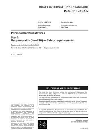 ISO 12402-5:2020 - Personal flotation devices