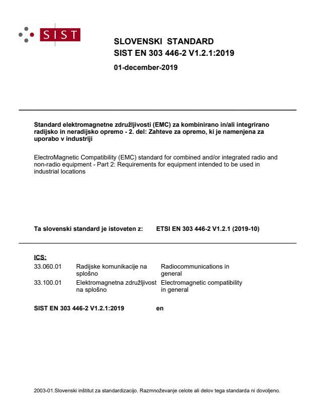 EN 303 446-2 V1.2.1:2019