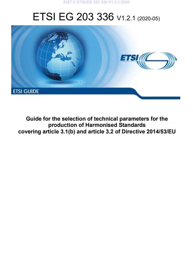 SIST-V ETSI/EG 203 336 V1.2.1:2020