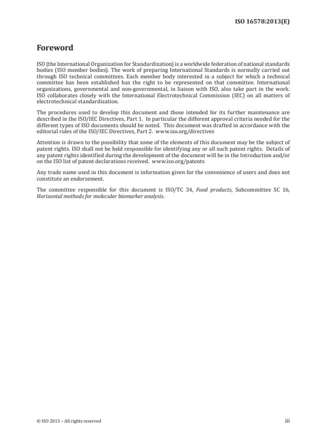 ISO 16578:2013 - Molecular biomarker analysis -- General definitions and requirements for microarray  detection of specific nucleic acid sequences