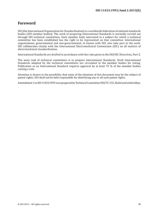 ISO 11433:1993/Amd 1:2013 - Alternative procedure for the preparation of the titanium standard solution
