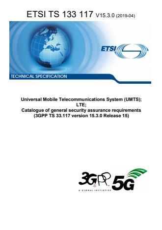 ETSI TS 133 117 V15.3.0 (2019-04)