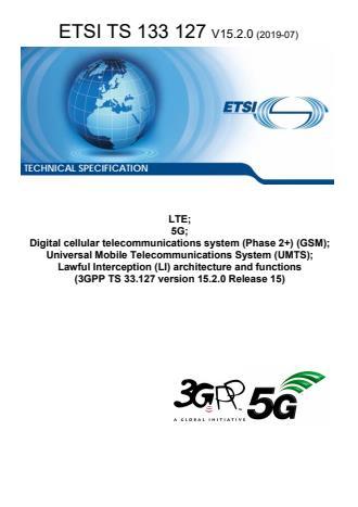 ETSI TS 133 127 V15.2.0 (2019-07)