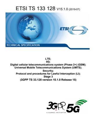 ETSI TS 133 128 V15.1.0 (2019-07)