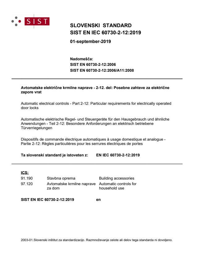 SIST EN IEC 60730-2-12:2019