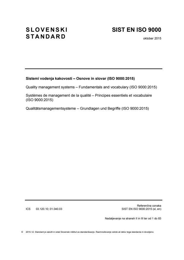 EN ISO 9000:2015