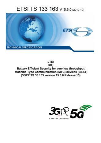 ETSI TS 133 163 V15.6.0 (2019-10)