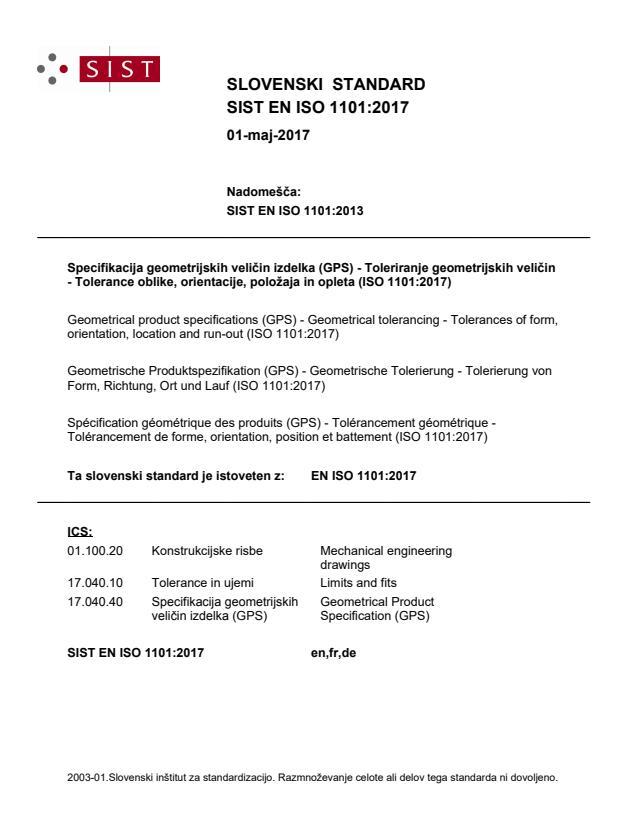 EN ISO 1101:2017 (DE)
